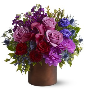 Teleflora's Plum Gorgeous in Dubuque IA, New White Florist