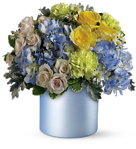 Teleflora's Heavenly Hues Bouquet in Muskegon MI, Barry's Flower Shop