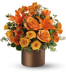 Teleflora's Sunset Glow in Dubuque IA, New White Florist