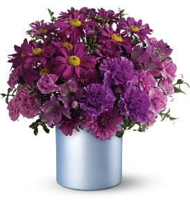 Teleflora's Vivid Violet Bouquet in Dubuque IA, New White Florist