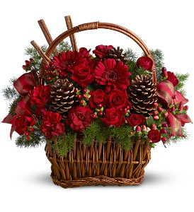Holiday Spice Basket in Largo FL, Rose Garden Florist
