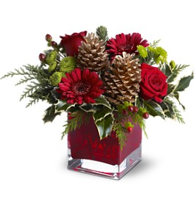 Teleflora's Cozy Christmas in Menomonee Falls WI, Bank of Flowers