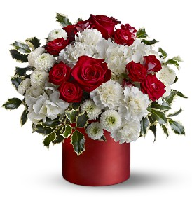 Teleflora's Haute Holiday in Dubuque IA, New White Florist