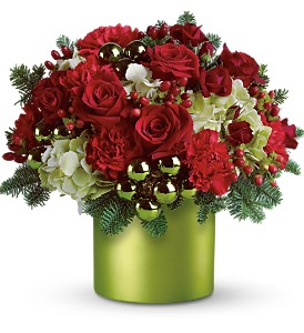 Teleflora's Holiday in Style in Dubuque IA, New White Florist