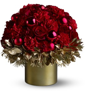 Teleflora's Golden Holly-Day in Fair Haven NJ, Boxwood Gardens Florist & Gifts