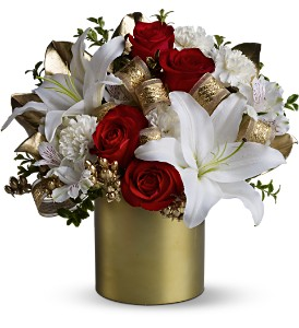 Teleflora's 24 Karat Bouquet in Dubuque IA, New White Florist