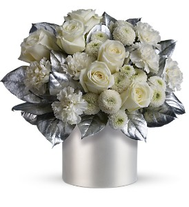 Teleflora's Elegant Evening in Dubuque IA, New White Florist