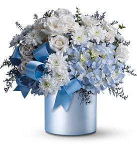 Teleflora's Baby Blue in Dubuque IA, New White Florist