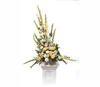 Pedestal Arrangement in Abington MA, The Hutcheon's Flower Co, Inc.