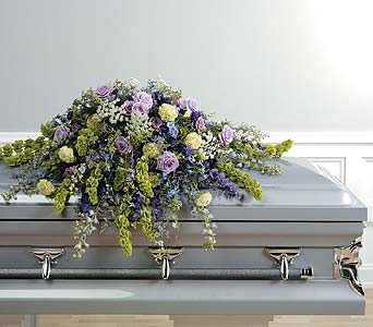 Lavender Casket Spray in Abington MA, The Hutcheon's Flower Co, Inc.
