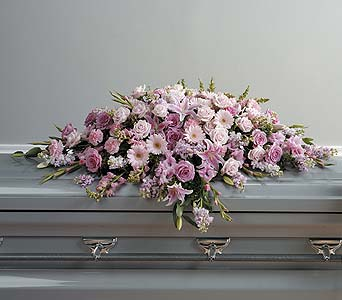 Lavender and Pink Casket Spray in Abington MA, The Hutcheon's Flower Co, Inc.