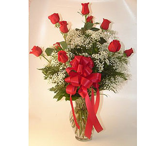One Dozen Roses Arranged-Red in Salisbury MD, Kitty's Flowers