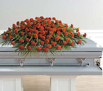 Full Couch Casket Spray in Abington MA, The Hutcheon's Flower Co, Inc.