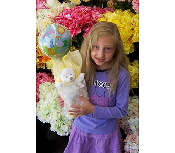 Welcome Home Baby Balloon and Bear in Palm Desert CA, Milan's Flowers & Gifts