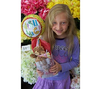 Wish Big Happy Birthday Balloon and Bear in Palm Desert CA, Milan's Flowers & Gifts