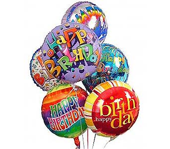 8 Birthday Balloon Bouquet in Palm Desert CA, Milan's Flowers & Gifts