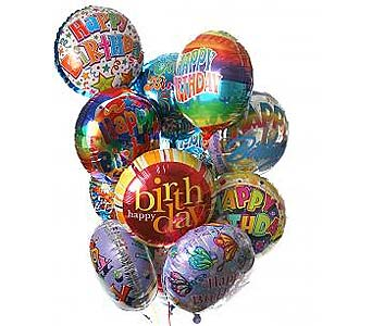 12 Birthday Balloon Bouquet in Palm Desert CA, Milan's Flowers & Gifts