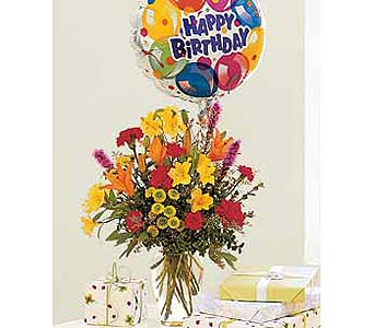 Birthday Bouquet and Balloon in Palm Desert CA, Milan's Flowers & Gifts