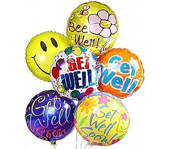 Get Well Balloon Bouquet in Palm Desert CA, Milan's Flowers & Gifts