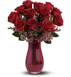 Teleflora's Red Rose Dozen Bouquet in Bellefonte PA, A Flower Basket