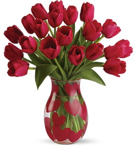 Teleflora's Happy Hearts Deluxe Bouquet in Buffalo Grove IL, Blooming Grove Flowers & Gifts