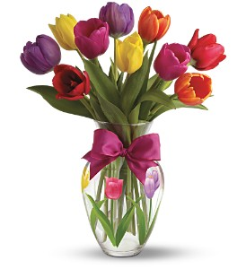 Teleflora's Spring Tulips Bouquet in Bellevue WA, Lawrence The Florist