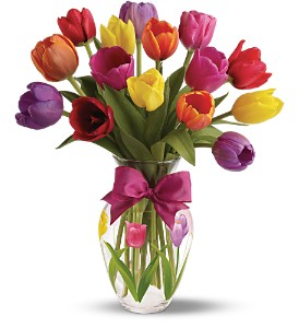 Teleflora's Spring Tulips Bouquet - Deluxe in London ON, Lovebird Flowers Inc