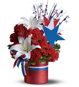Vote Red Bouquet in Dubuque IA, New White Florist