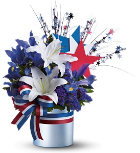 Vote Blue Bouquet in Isanti MN, Elaine's Flowers & Gifts