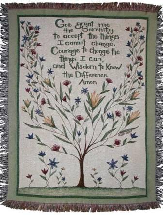 Serenity Prayer Throw Blanket in Ambridge PA, Heritage Floral Shoppe
