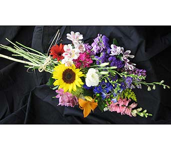 The Garden Flower Wrap Bouquet in New Paltz NY, The Colonial Flower Shop