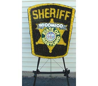Wicomico County Sheriff Emblem in Salisbury MD, Kitty's Flowers