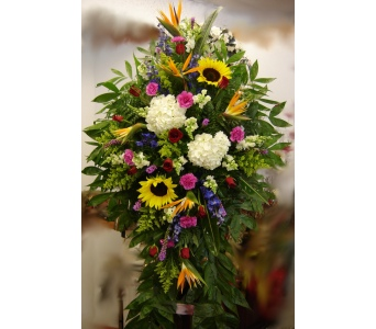 Exotic Funeral Spray in Hialeah FL, Bella-Flor-Flowers