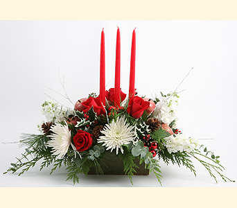 3 Candle Centerpiece in Southampton PA, Domenic Graziano Flowers