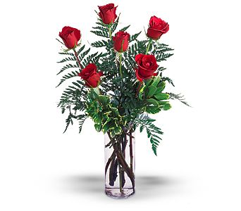 Half Dozen Red Roses in Bossier City LA, Lisa's Flowers & Gifts