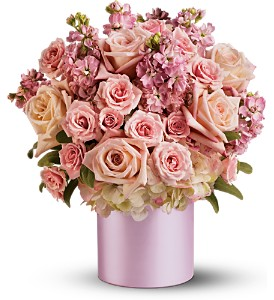 Teleflora's Pinking of You Bouquet in Oklahoma City OK, Array of Flowers & Gifts