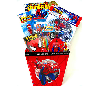 KGB27 ''Spiderman Adventures'' Gift Basket in Oklahoma City OK, Array of Flowers & Gifts