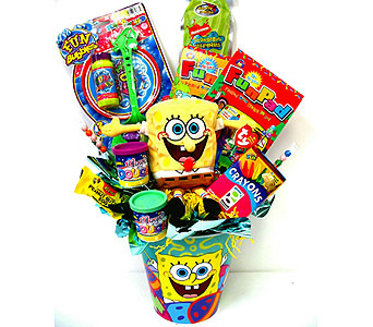KGB24  ''Sponge Bob Square Pants'' Gift Basket in Oklahoma City OK, Array of Flowers & Gifts