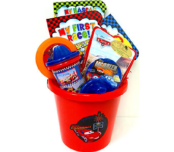 KGB19 ''Disney Cars'' Gift Basket in Oklahoma City OK, Array of Flowers & Gifts