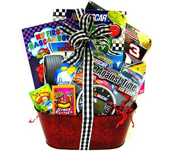 KGB13 ''NASCAR Playtime''  Gift Basket in Oklahoma City OK, Array of Flowers & Gifts