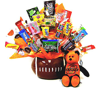 CBOSU10 ''Football Fan'' OSU Candy Bouquet in Oklahoma City OK, Array of Flowers & Gifts