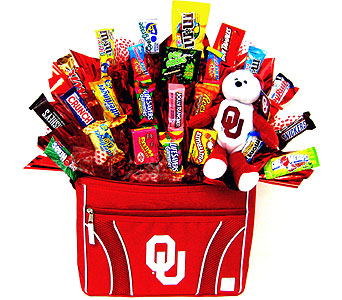 CBOU12 ''Sweetest Fan'' OU Candy Bouquet in Oklahoma City OK, Array of Flowers & Gifts