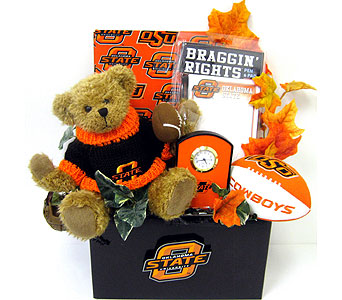 OSU30 '' OSU Braggin' Rights'' Gift Basket in Oklahoma City OK, Array of Flowers & Gifts
