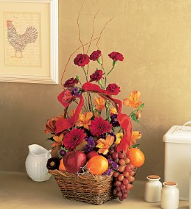 Fruits and Flowers Basket in Medford NY, Sweet Pea Florist