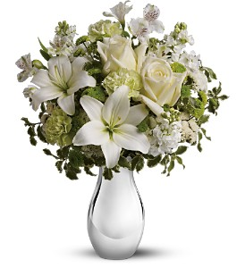 Teleflora's Silver Reflections Bouquet in San Diego CA, Eden Flowers & Gifts Inc.