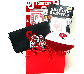 OU36 ''Sooners'' Gift Basket in Oklahoma City OK, Array of Flowers & Gifts