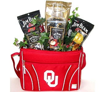 ''Eat and Drink'' OU Gift Basket in Oklahoma City OK, Array of Flowers & Gifts