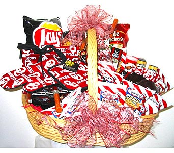 OU50 ''Game Day Grillin'' OU Basket in Oklahoma City OK, Array of Flowers & Gifts