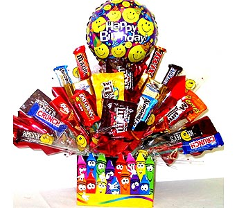 CB225 ''Crayola Smiles'' Candy Bouquet in Oklahoma City OK, Array of Flowers & Gifts