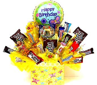 CB243 ''Fireflies'' Birthday Candy Bouquet in Oklahoma City OK, Array of Flowers & Gifts